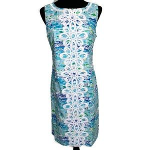 Lilly Pulitzer High Tide Toile Worth Shift Dress 6